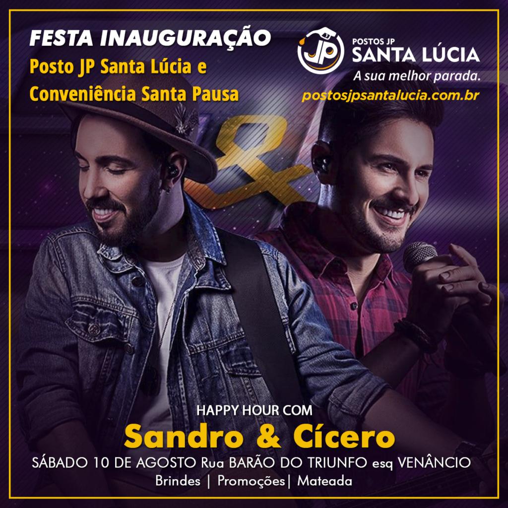 FESTA INAUGURAÇÃO POSTO JP SANTA LÚCIA RUA BARÃO DO TRIUNFO SANTA MARIA